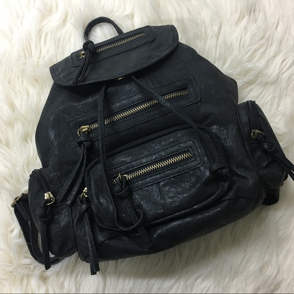 11caba5c2d Bueno Black Faux Leather Backpack